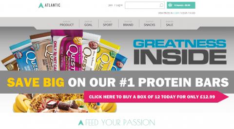 Atlantic Supplements Magento Website