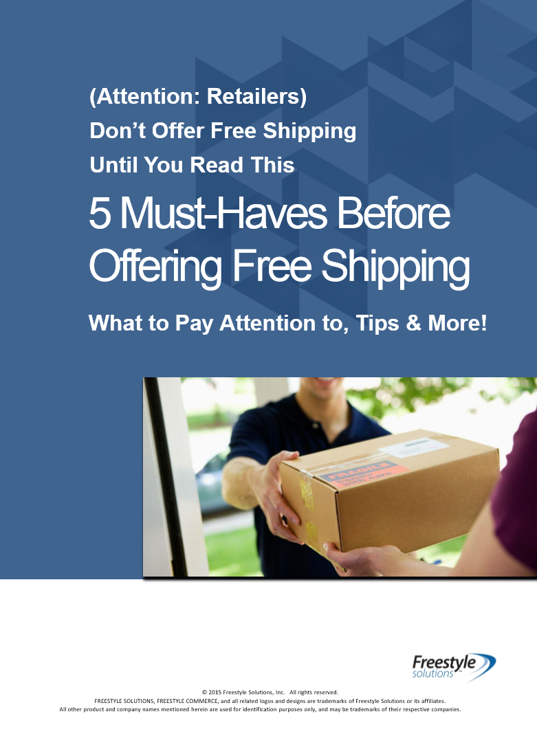 5 Must Haves Before Offering Free Shipping