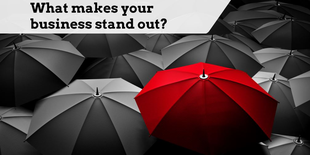 small business website blunders can include not standing out among the pack