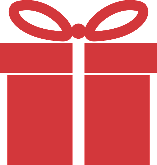 Red-present-wrapped-with-white-bow